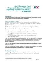 Response to Licensed Providers Regulatory Regime Consultation
