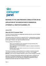 Response to the Lord President's consultation on an application by the Association Of Commercial Attorneys re. rights of audience, etc.