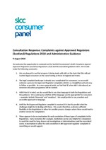 Consultation Response: Complaints against Approved Regulators (Scotland) Regulations 2018 and Administrative Guidance