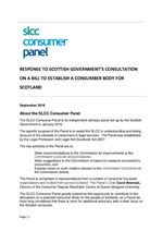 Consultation to establish a consumer body for Scotland