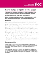 How to make a complaint - English